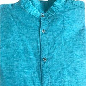 Zara Man Teal shirt